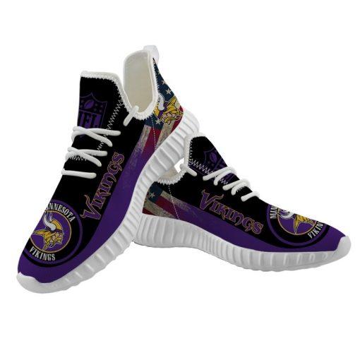 Men Women Yeezy Running Shoes Customize Minnesota Vikings