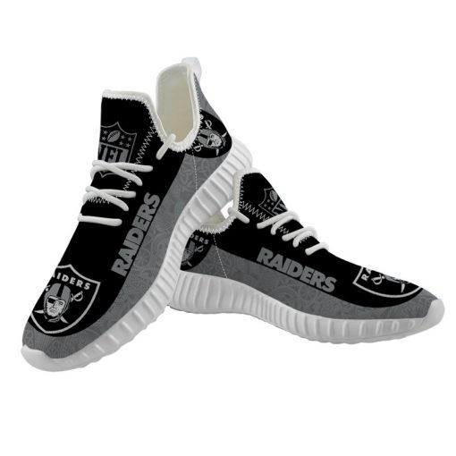 Men Women Yeezy Running Shoes Customize Oakland Raiders
