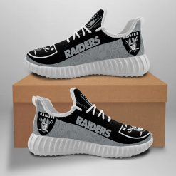 Men Women Yeezy Running Shoes Customize Oakland Raiders