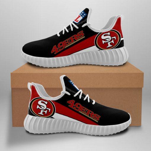Men Women Yeezy Running Shoes Customize San Francisco 49ers