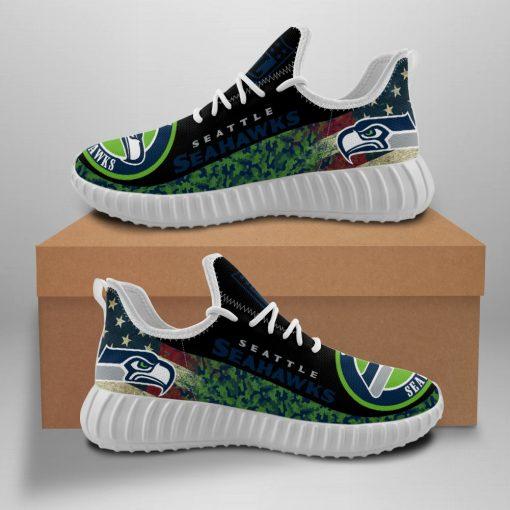 Men Women Yeezy Running Shoes Customize Seattle Seahawks