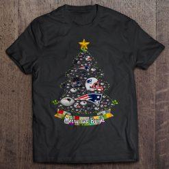 Merry And Bright New Streetwear Harajuku England 100 Cotton Men S Tshirt Patriots Christmas Tree Tshirts
