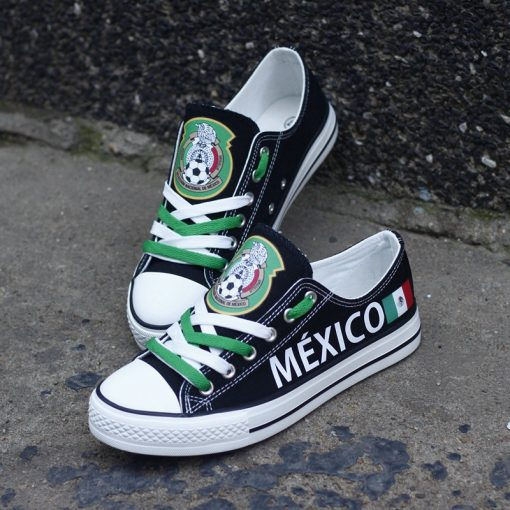 Mexico National Team Low Top Canvas Sneakers