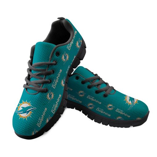Miami Dolphins Custom 3D Print Running Sneakers