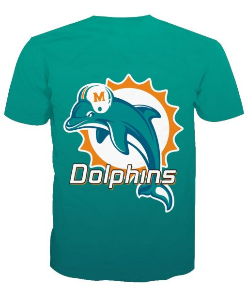 Miami Dolphins Football Fans Casual T-shirt