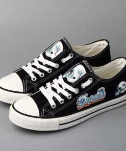 Miami Dolphins Limited Low Top Canvas Sneakers