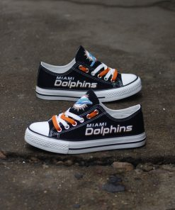 Miami Dolphins Limited Low Top Canvas Shoes Sport