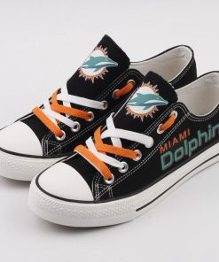 Miami Dolphins Low Top Canvas Sneakers