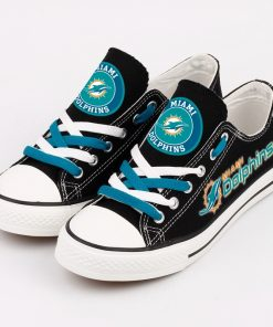 Miami Dolphins Low Top Canvas Shoes Sport