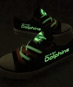 Miami Dolphins Limited Luminous Low Top Canvas Sneakers