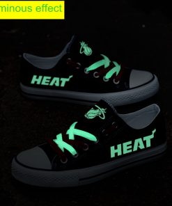 Miami Heat Limited Luminous Low Top Canvas Sneakers