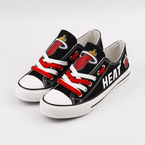 Miami Heat Low Top Canvas Sneakers