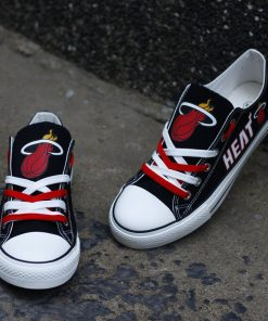 Miami Heat NBA Basketball Fans Low Top Canvas Shoes Sport