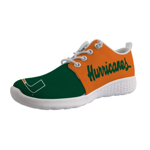 Miami Hurricanes Customize Low Top Sneakers College Students