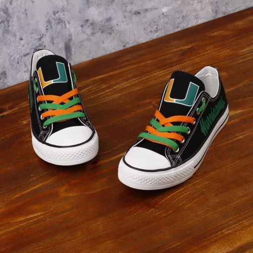 Miami Hurricanes Limited Low Top Canvas Sneakers