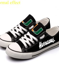 Miami Hurricanes Limited Luminous Low Top Canvas Sneakers