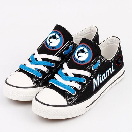 Miami Marlins Low Top Canvas Sneakers
