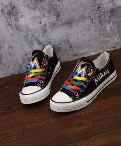 Miami Marlins Limited Low Top Canvas Sneakers