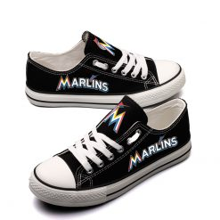 Miami Marlins Limited Low Top Canvas Shoes Sport