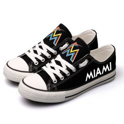 Miami Marlins Limited Luminous Low Top Canvas Sneakers