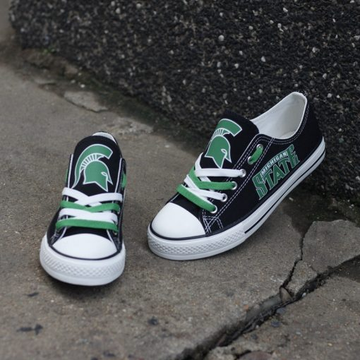 MichiganStateSpartans Limited Low Top Canvas Shoes Sport