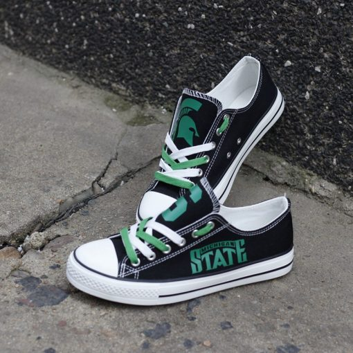MichiganStateSpartans Limited Low Top Canvas Sneakers