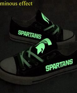 Michigan State Spartans Luminous Low Top Canvas Sneakers