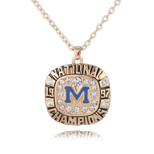 Michigan Wolverines Championship Necklace