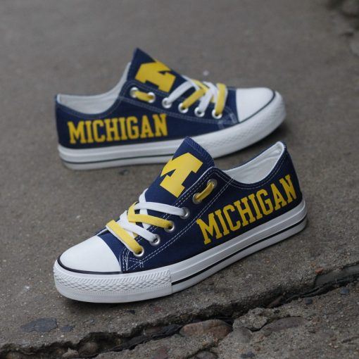 MichiganWolverines Limited Low Top Canvas Shoes Sport