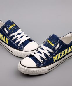 MichiganWolverines Limited Low Top Canvas Sneakers