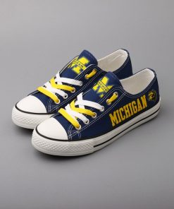 MichiganWolverines Limited Fans Low Top Canvas Shoes Sport