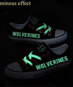 Michigan Wolverines Limited Luminous Low Top Canvas Sneakers