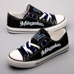 Milwaukee Brewers Low Top Canvas Shoes Sport