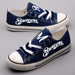 Milwaukee Brewers Limeted Fans Low Top Canvas Sneakers