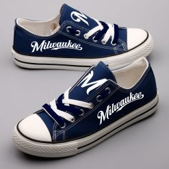Milwaukee Brewers Fans Low Top Canvas Sneakers