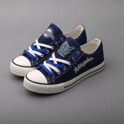 Milwaukee Brewers Limited Low Top Canvas Sneakers