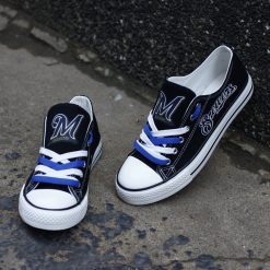 Brewers Limited Print Low Top Canvas Sneakers