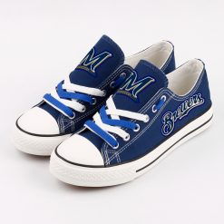 Brewers Low Top Canvas Sneakers