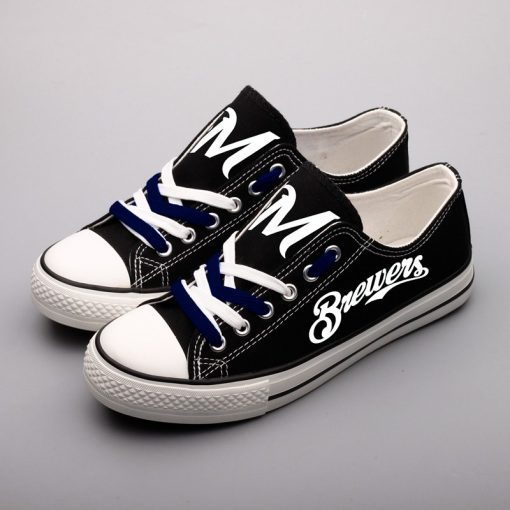 Milwaukee Brewers Limited Luminous Low Top Canvas Sneakers