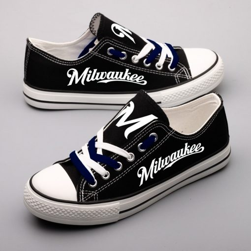 Milwaukee Brewers Limited Luminous Low Top Canvas Shoes Sport