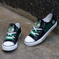 Milwaukee Bucks Low Top Canvas Sneakers