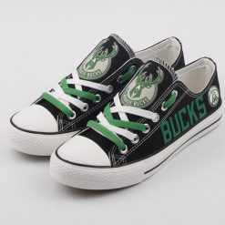 Milwaukee Bucks Low Top Canvas Shoes Sport