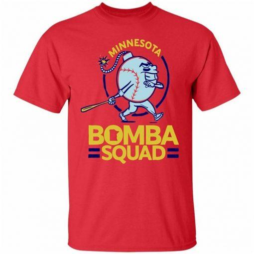 Minnesota Bomba Squad Shirt Bomba Squad Twins Red T Shirt Size S 3Xl Funny Tee Shirt