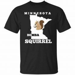 Minnesota Bomba Squirrell Funny Baseball Gift T Shirt S 5Xl