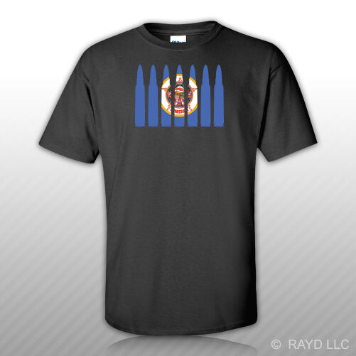 Minnesota Flag Bullet T Shirt Tee Shirt Cotton MN 223 5 56mm 2a 2nd gun rights