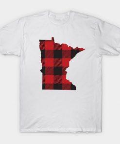 Minnesota Flannel Plaid MN State Design T Shirt Minnesota tshirt plaid flannel mn st paul duluth