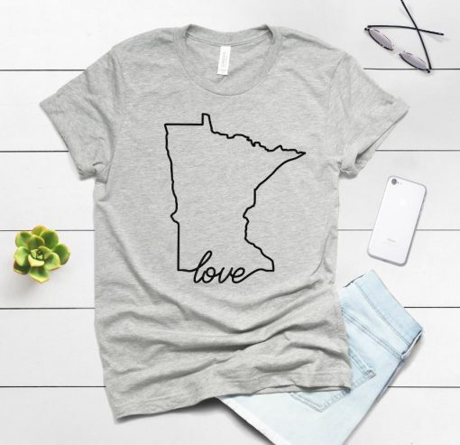 Minnesota Home print Women tshirt Cotton Casual Funny t shirt For Lady Yong Girl Top Tee 1