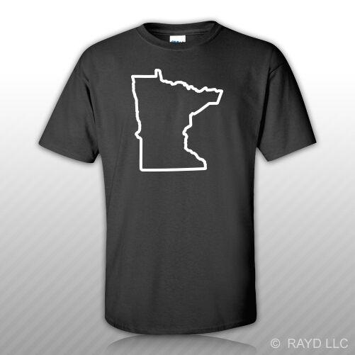Minnesota Outline T Shirt Tee Shirt S M L XL 2XL 3XL Cotton MN