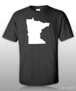 Minnesota Shaped T Shirt Tee Shirt S M L XL 2XL 3XL Cotton MN