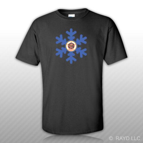 Minnesota Snowflake T Shirt Mn Snow Flake Snowboard Skiing Newest 2019 Men S Fashion Print T
